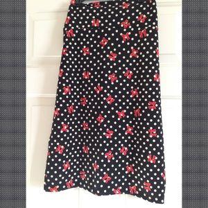 NWT Lularoe large Cassie polka dots w/ bow